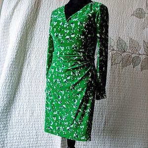 Ralph Lauren Floral Faux Wrap Sheath Dress